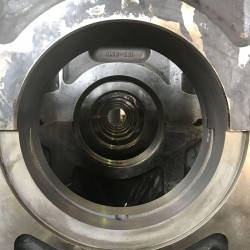 main bearing pockets after line boring